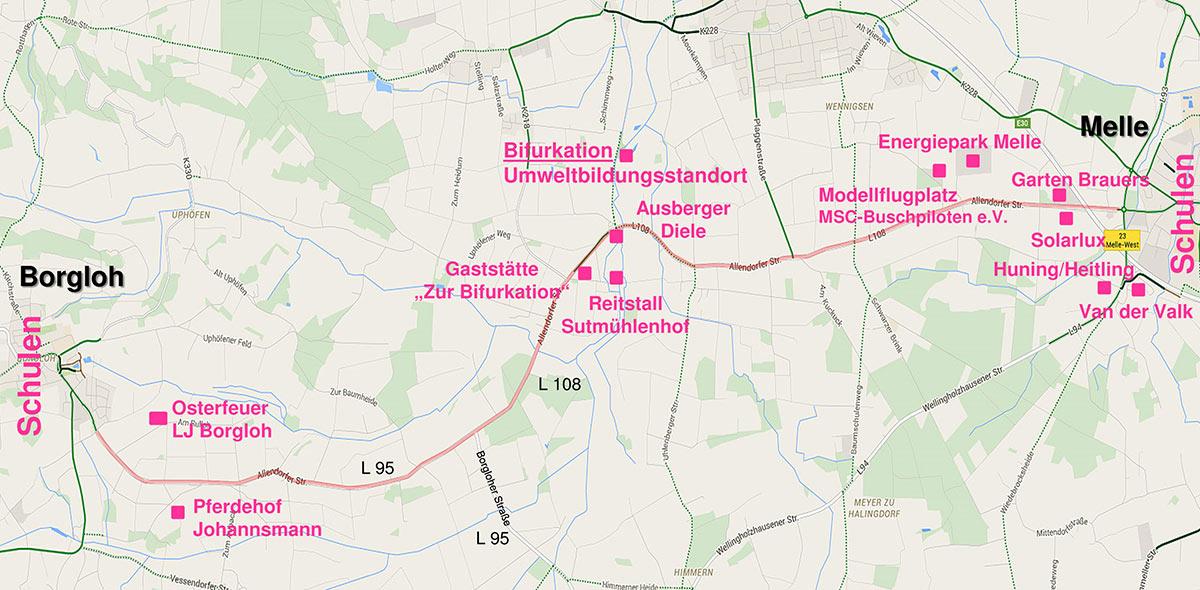 Streckenumfeld Allendorfer Straße